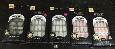 GLAM by MANICARE, Long lasting Salon Lasting Nails 5 styles to choose  FREE POST