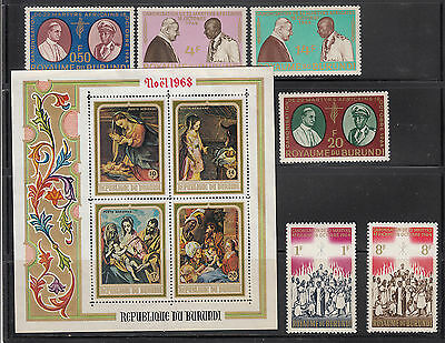 Burundi 1964-1968 Collection all mint never hinged