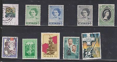 (U11-2) 1950-91 Malta mix of 45 stamps value to 1/6d and 5M (B)