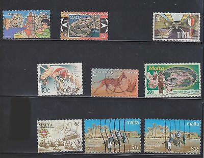 (U11-7) 1970-2000 Malta mix of 17 stamps values to 51c (G)