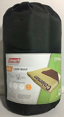 Brand New Coleman Camp Quilt Sleeping Bag 8 Degrees - Fits Queen Size