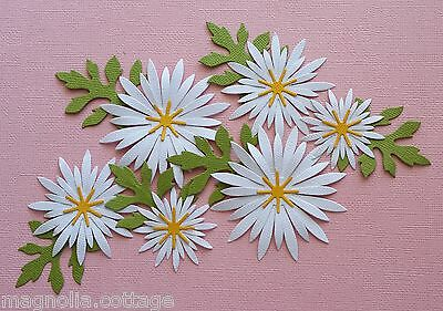 Choice of Colour..  6  x  Large Daisy Die Cuts ..Scrapbooking Card/Making