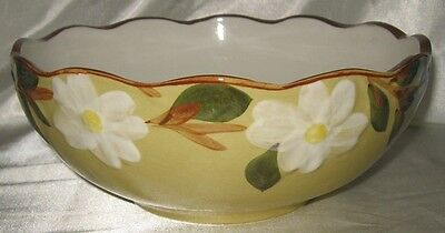 Stangl White Dogwood Round Serving Bowl