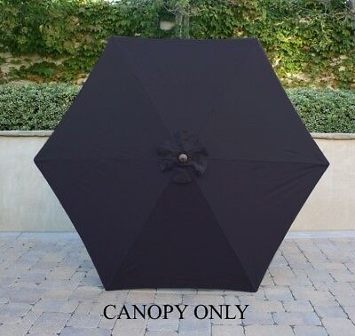 9ft Umbrella Replacement Canopy 6 Ribs in Navy (Canopy Only)