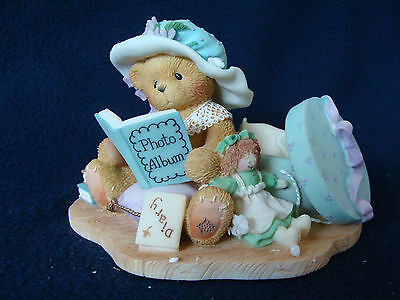 Cherished Teddies - Lauren - Girl With Doll And Hat Box Figurine - 308684 - 1997
