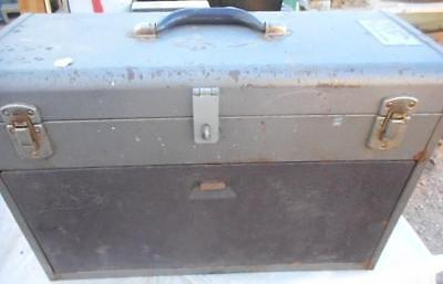 Machinist Chest 7 Drawer Metal Has Hasp For Lock Military Kennedy Chest