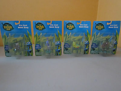 Disney & Pixar A Bugs Life Die Cast Mini Bug Figure Lot - NIP!!