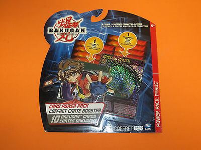 Bakugan Card Power Pack: Pyrus Foil Holographic 10 Card