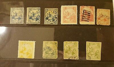 Lot of 10 Liberia Stamps 1860's scroll to see all