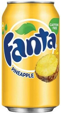 Fanta Pineapple Flavour Drink USA 12 X 355ml Cans - Bulk Party Pack. BB 10/07/17