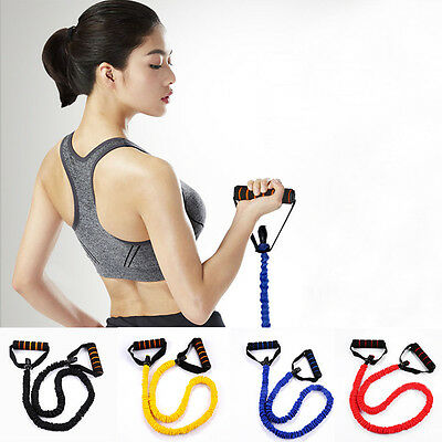 Yoga Pull Stretch Strap Yoga Elastic Resistance Band Sport Gym Training Strap