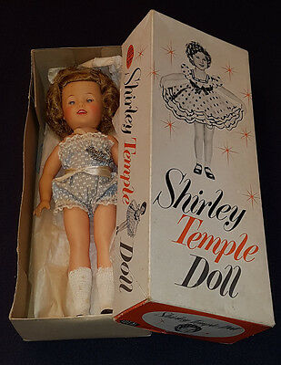 "1957 - Shirley Temple - Ideal - Vinyl Doll #9500 -With Original Box - 12"" Inches"