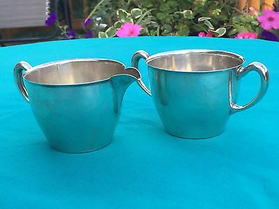 Sterling Silver Creamer & Sugar Bowl Set - 216 Grams - Weidlich Bros.