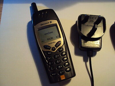 Collectable Ericsson A2618S Small Sim Gsm Mobile Phone  On Orange+Charger