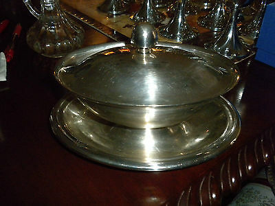 Reed & Barton Silver Soldered Gravy/ Sauce Boat With Lid