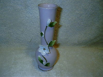 Vintage Lefton China Vase Applied Flowers Pink Mm 191 Hand Painted 6