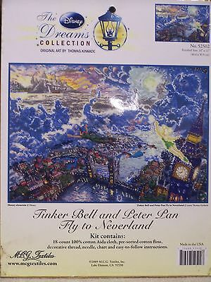"""Tinker Bell and Peter Pan Fly To Neverland Counted Cross Stitch Kit 16"""" x 12"""""""