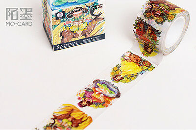 Flowers Alice fairy tale magic Washi paper Masking Tape stickers Decal Scrapbook