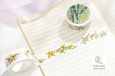 orchid Flowers plant Washi paper Masking Tape Scrapbook Decal label sticker gift