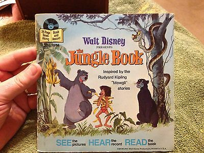 """Vintage 1977 Read Along Book and Record """"The Jungle Book"""""""""""
