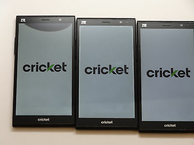 Lot of 3 ZTE Grand X Max+ Z987 16GB Cricket Smartphones AS-IS GSM