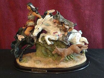 "Western Themed Riders on Horseback figurine Statue - titled ""Gift of Time"""