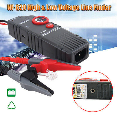 Noyafa NF-820 High & Low Voltage Line Finder Wire Tracker Diagnose Tone Tool Kit