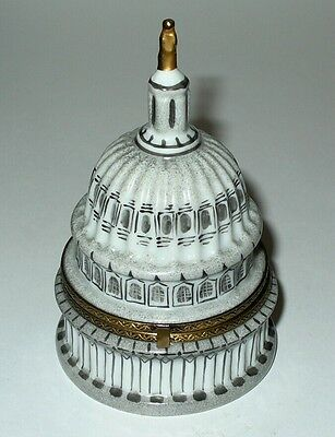 Limoges Box - Capitol Building Dome & Us Flag - Washington D. C. - Le 13/500