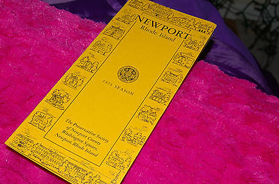 1971 Brochure Newport Rhode Island Preservation Society Of Newport County W/ Map