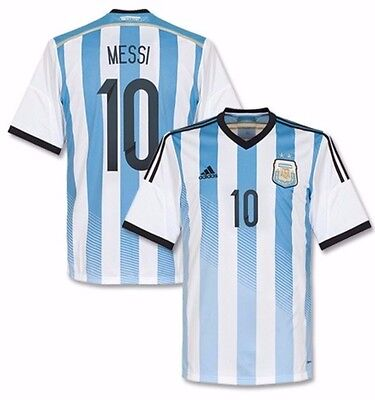 ADIDAS LIONEL MESSI Argentina Home Jersey Fifa World Cup 2014 ...