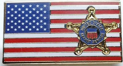United States Secret Service (Usss) Flag Lapel Pin New