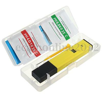 Portable Digital PH Meter Tester Aquarium Pool Water Wine Urine LCD Pen Monitor