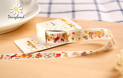fairy tale forest rabbit deer Washi paper Masking Tape collage Decal stickers