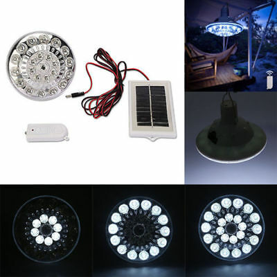 22 LED Solar Outdoor LED Light Yard Tent Camping Hanging Lamp Remote Control