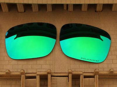 ACOMPATIBLE Polarized Lenses Replacement for-Oakley Holbrook Sunglasses - Green