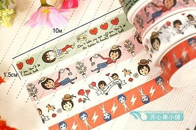 Fashion girl home life Washi paper Masking Tape collage stickers label diary diy