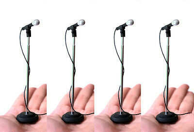 4 Adjustable Miniature Microphones to compliment Rock Star statue & stage