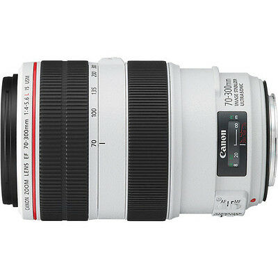 CANON EF 70-300 f/4-5.6L IS USM Camera Lens-White