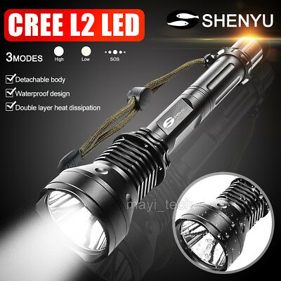 CREE XM-L2 USB LED Detachable 5000Lm 18650 Rechargeable Battery Flashlight Torch