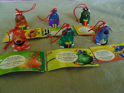 Yowie Yowies XMAS 2000 COMPLETE SET of 6 YOWIE MEN * RED CORD LIMITED EDITIONS