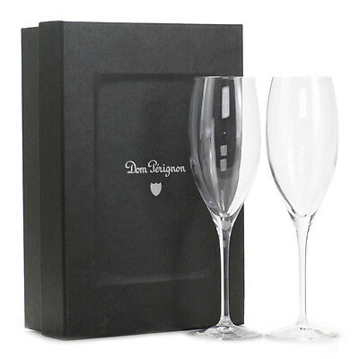 Dom Perignon Crystal Champagne Flutes X 2 New Genuine Unboxed