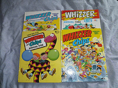 4 x WHIZZER AND CHIPS ANNUALS 1988 1990,1991,1992