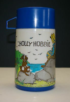 Vintage 1970's 'holly Hobbie' Blue Aladdin Thermos 227Ml Made In Canada