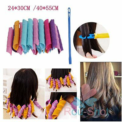 30/55CM Large Wavy Long Hair Curlers Spiral Circle Rollers Styling DIY Tools【UK】