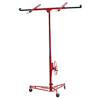 Pracial Drywall Lift Rolling Lifter Caster Construction Lockable Machine Red Hot