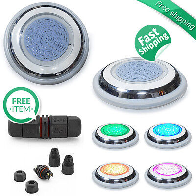 Epoxy Resin Filled Flat Swimming Pool Light 15W Bright LED 7 Colours with Remote