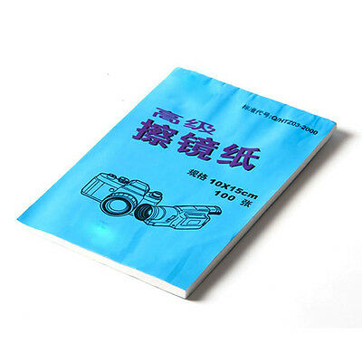 Camera Cleaning Paper Cleaner Lens Tissue 100 Sheets E2T1