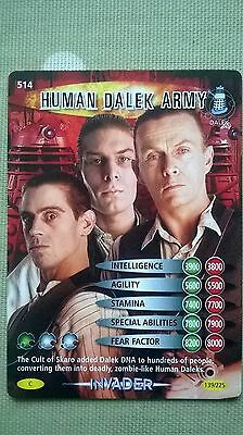 Dr. Who Invader Card. 514 - 'Human Dalek Army.'