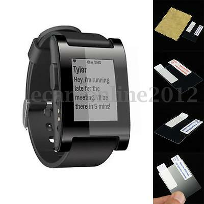 3pcs HD Clear Screen Protector Military Shield w/Cloth For Pebble Smart Watch