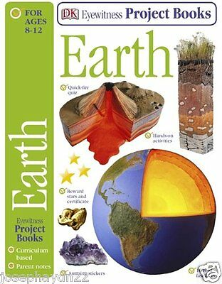 NEW DK Eyewitness  EARTH -  PROJECT book with REWARD STARS volcano planet
